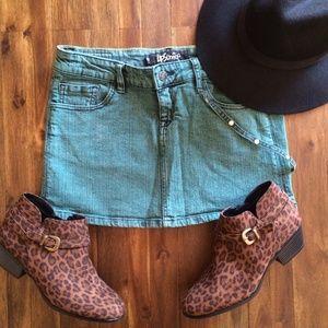 Turquoise Mini Skirt Hot Topic Size M